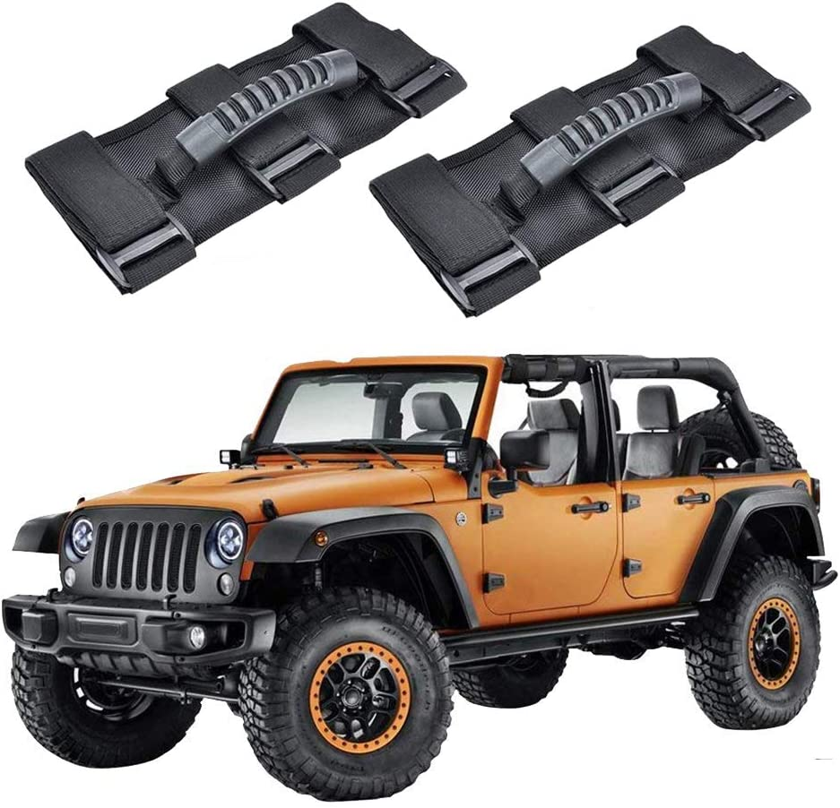 3 Straps Design Pack of 2 Heavy Duty Unlimited Wrangler Roll Bar Strong Durable Fits 1955-2017 Models JK JKU CJ CJ5 CJ7 YJ TJ Red RilexAwhile Jeep Wrangler Roll Bar Grab Handles