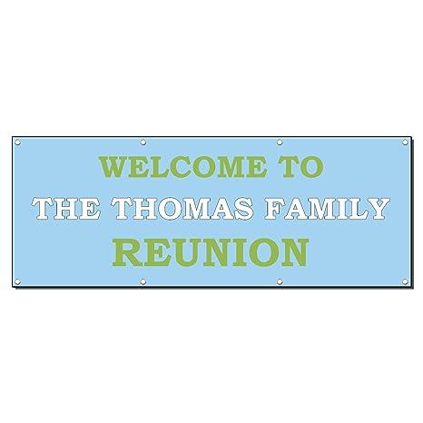 Amazon.com: Familia de bienvenido a Reunion personalizado ...