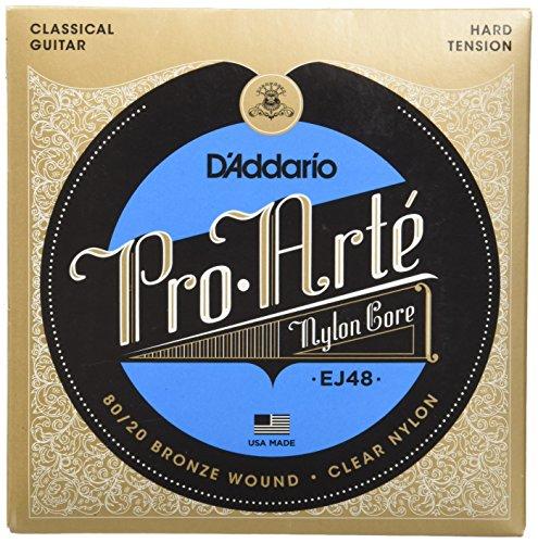 (D'Addario EJ48 80/20 Bronze Pro-Arte Nylon Classical Guitar Strings, Hard Tension)
