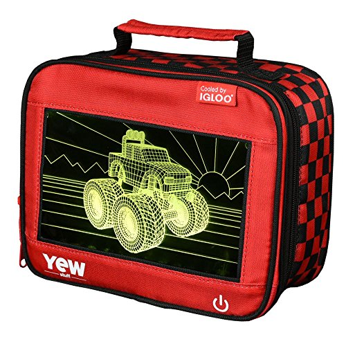 Igloo 81015 Monster Truck Kids Lunch Box, 9.5 x 4.75 x 7.5