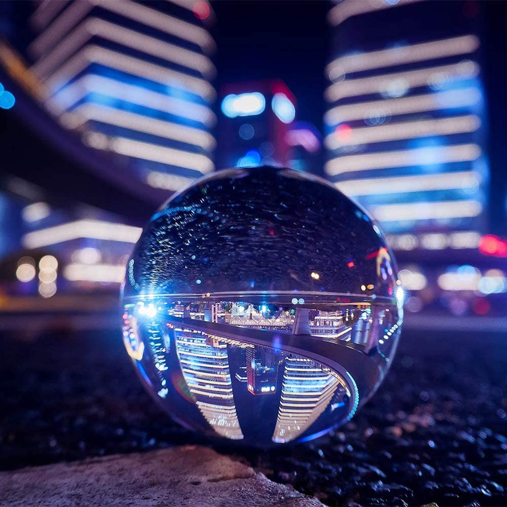 DSLR Camera Perfect for Smartphone Best Gifts for Photographers Crystal Ball Photography Lensball 80mm K9 Crystall Glass Ball Upgraded Photography Accessories /& Props