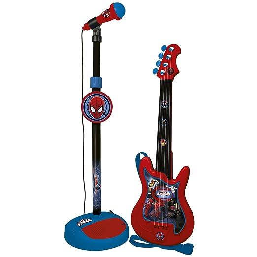 15 opinioni per Reig 552- Spider-Man, Chitarra 4 Corde e Microfono con Amplificatore