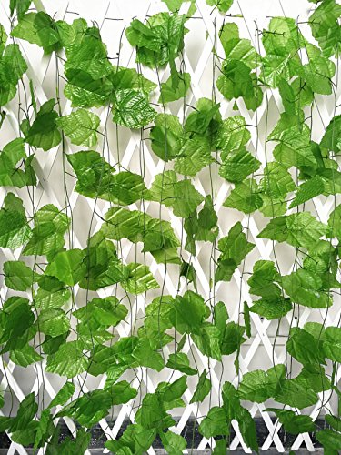 ShinyBeauty 96 Ft - 12 Pack Artificial Vines with grapes Fake Ivy roll for Decoration outdoor