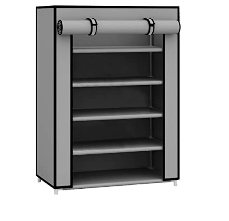 Amazon.com: Sunbeam Free Standing Shoe Rack (Grey, 12 Pair): Home ...