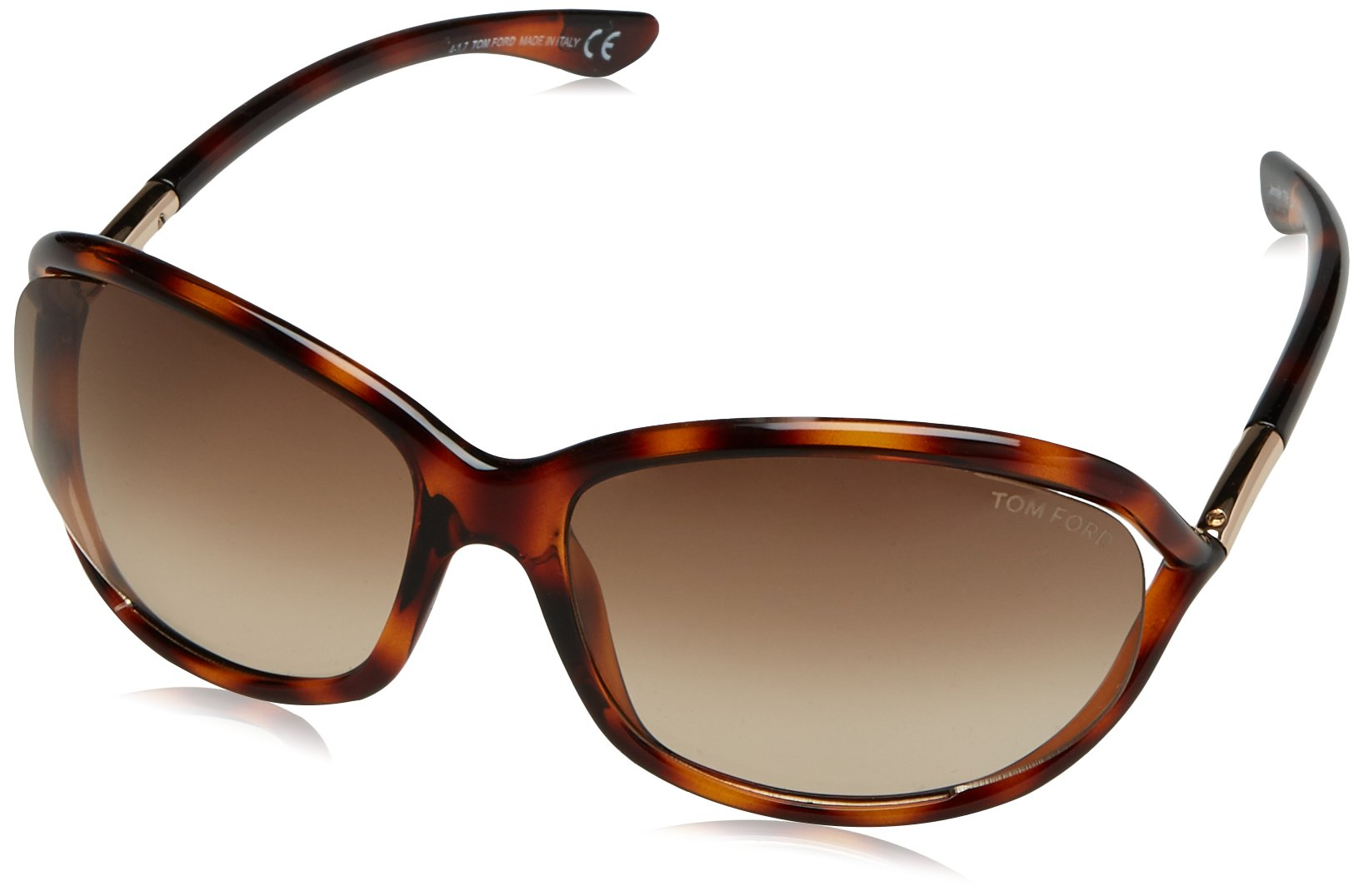 Tom Ford Jennifer FT 0008 sunglasses Shiny Black/ Rose Gold Metal & Smoke Gradient (Grey) lens