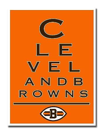 Amazon.com : Atlas Cleveland Browns EYE 12x16 Poster Print Wall Art ...