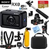 Beach Camera Sony RX0 1.0-type Sensor Ultra-Compact Camera w/Waterproof + Shockproof Design + 32GB Outdoor Adventure Mounting Bundle
