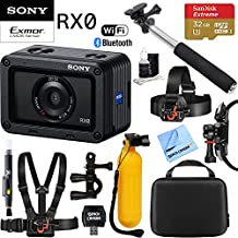 Sony RX0 1.0-Type Sensor Ultra-Compact Camera w/Waterproof + Shockproof Design + 32GB Outdoor Adventure Mounting Bundle