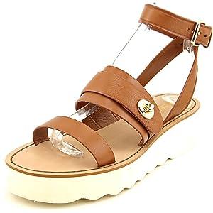 Coach Platt Peb Open Toe Leather Platform Sandal
