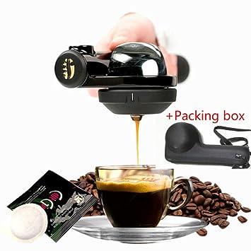 Mini Portátil Maquina de cafe, Café exprés Maquina de cafe Casa Manual Mano Cafetera, Operando Sencillo Viajar Al aire libre 16Bar Máquina universal de la ...