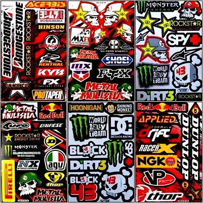 Decal Sticker Racing Metal Mulisha Rockstar Energy Drink Motorcross ##Decal1010