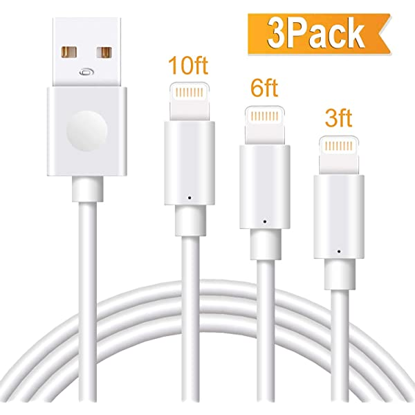 2 Pack 3FT USB Cable iPhone Charging Cable Set MFI Certified Charge+ for iPhone 11//11 Pro//11 Pro Max//Xs//Xs Max//XR//X//8//8 Plus//7//7 Plus//6S//6S Plus//Air//Mini//iPod Touch//Case Charging Cord
