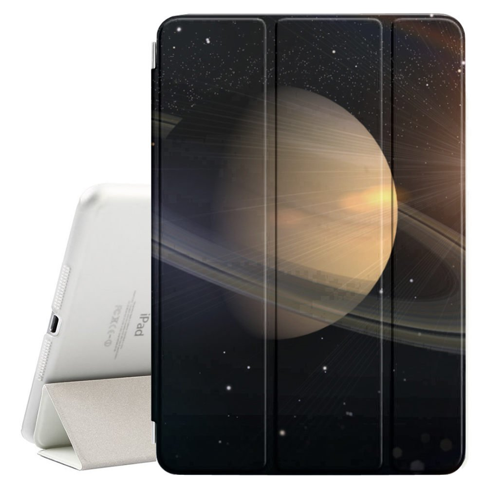 STPlus Planet Saturn Solar System Space Smart Cover With Back Case + Auto Sleep/Wake Funtion + Stand for Apple iPad Pro (9.7'') by STPlus