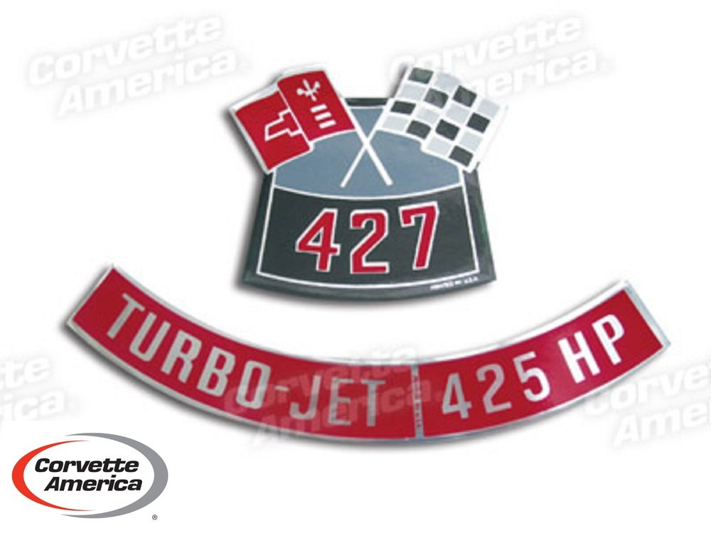 Chevy 427/425 HP Air Cleaner Decal Corvette America 0306