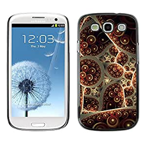 X-ray Impreso colorido protector duro espalda Funda piel de Shell para SAMSUNG Galaxy S3 III / i9300 / i747 - Turkey Carpet Abstract Bubble