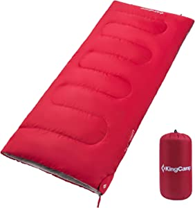 KingCamp Sleeping Bag with Compression Sack Great for Adults & Kids Indoor and Outdoor Use 3-Season Warm and Comfortable for Camping Travel