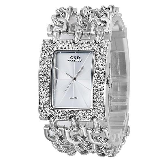 Sheli Wasserdichte Silber Groß Damen Entwurf Diamanten Gold Quarz Armbanduhren FlKT1Jc3