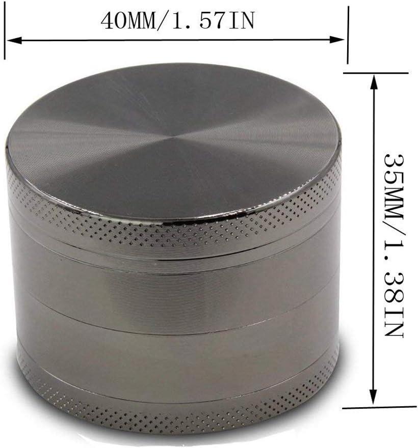 Piante e pollini Yeelan Grinder per Spezia 40mm // 1.6in, Nero Erba aromatica Tabacco