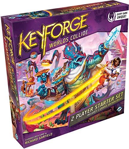 FFG Keyforge: Worlds Collide Unique Deck Game Two-Player Starter Set