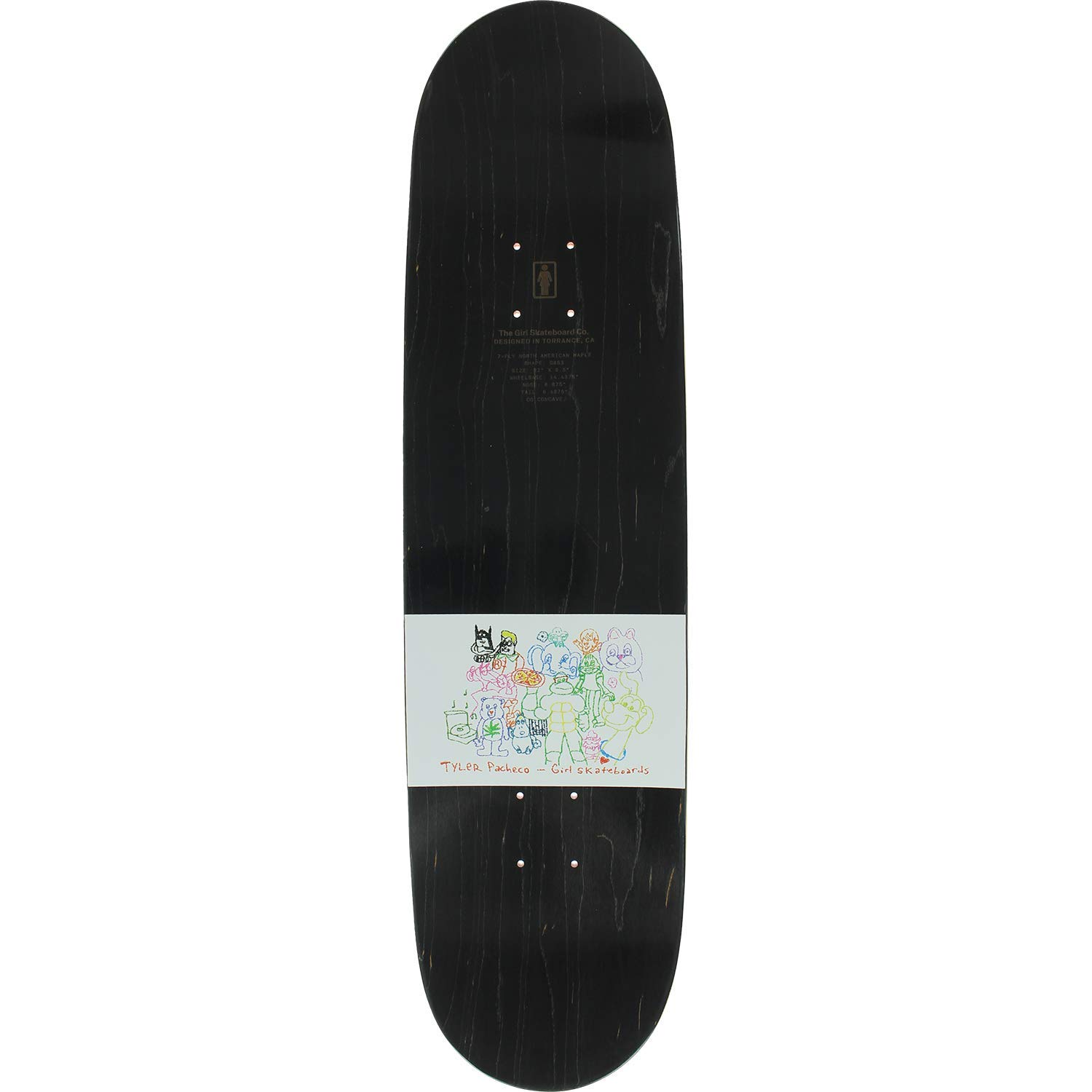 Amazon com : Girl Pacheco One-Off Skateboard Deck -8 25