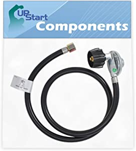 UpStart Components BBQ Gas Grill Propane Regulator Hose Replacement Parts for Weber Genesis Silver B SWE (2005) - Compatible Barbeque 41 Inch Regulator and Hose