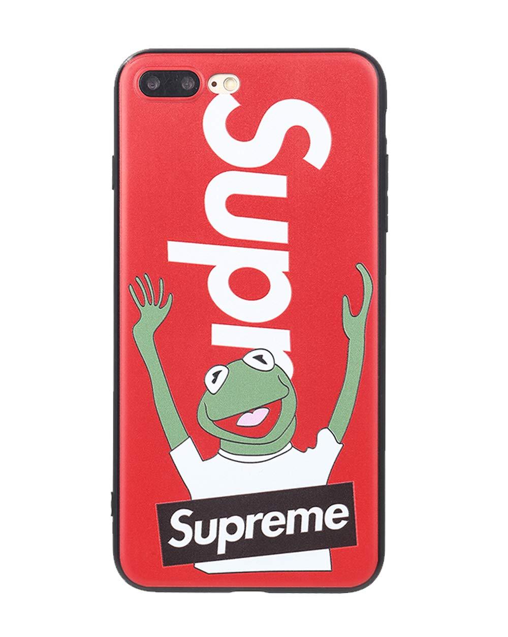 Supreme x Kermit con la Portada de la Rana 70s up Sup Frog Case Sentir la Portada con Motivos 3D s/ólido Compatible con el iPhone de Apple 6, Rojo