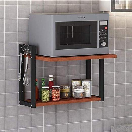 Kitchen shelf CCET Cocina Microondas Estante de Pared de 2 Capas ...