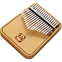 JJmooer Walter.t WK-17PD Portable 17-key Kalimba Thumb Piano Mbira Spruce Wood with Backside Stand Musical Gift for Students Beginners