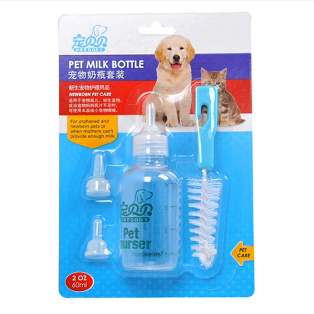 Pet Nurser, PYRUS Dog Nursing Bottle Kit Feeding Bottle Set for Kittens Puppies & Small Animals