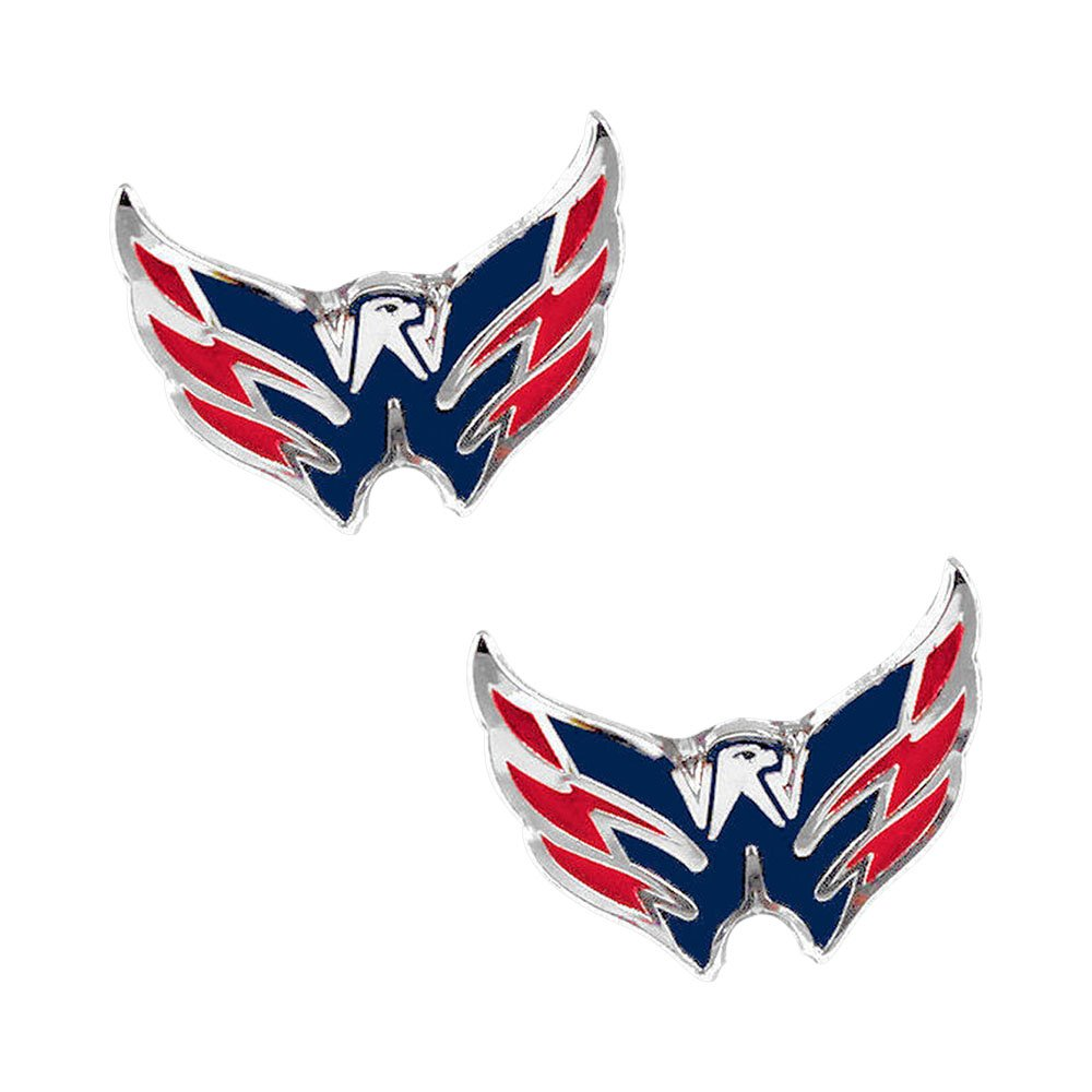 aminco Washington Capitals Post Stud Logo Earring Set NHL Charm