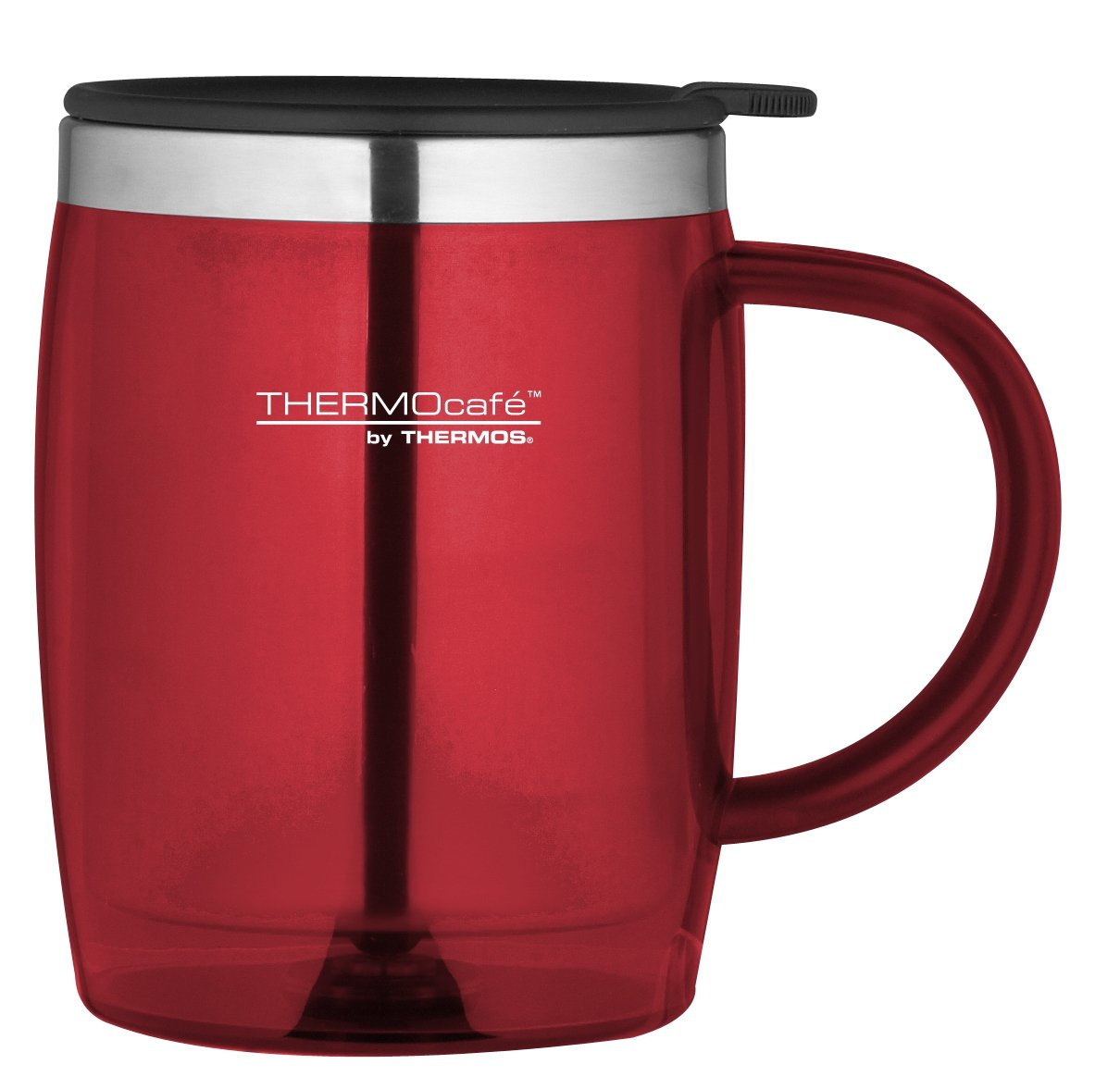 Thermocaf plastic and stainless steel desk travel mug for Thermos caffe