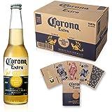 ビール コロナ・エキストラ ボトル 355ml×24本 トランプ付 (Amazon.co.jp販売商品のみ)