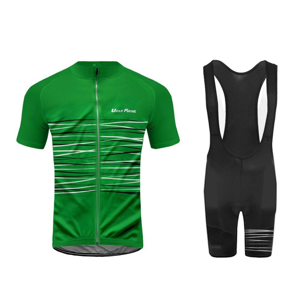 Uglyfrog 2016最新半袖サイクリングジャージーバイクシャツ自転車トップアウトドアスポーツ服メンズの夏のスタイル B074QLW6NS Medium|カラー24 カラー24 Medium