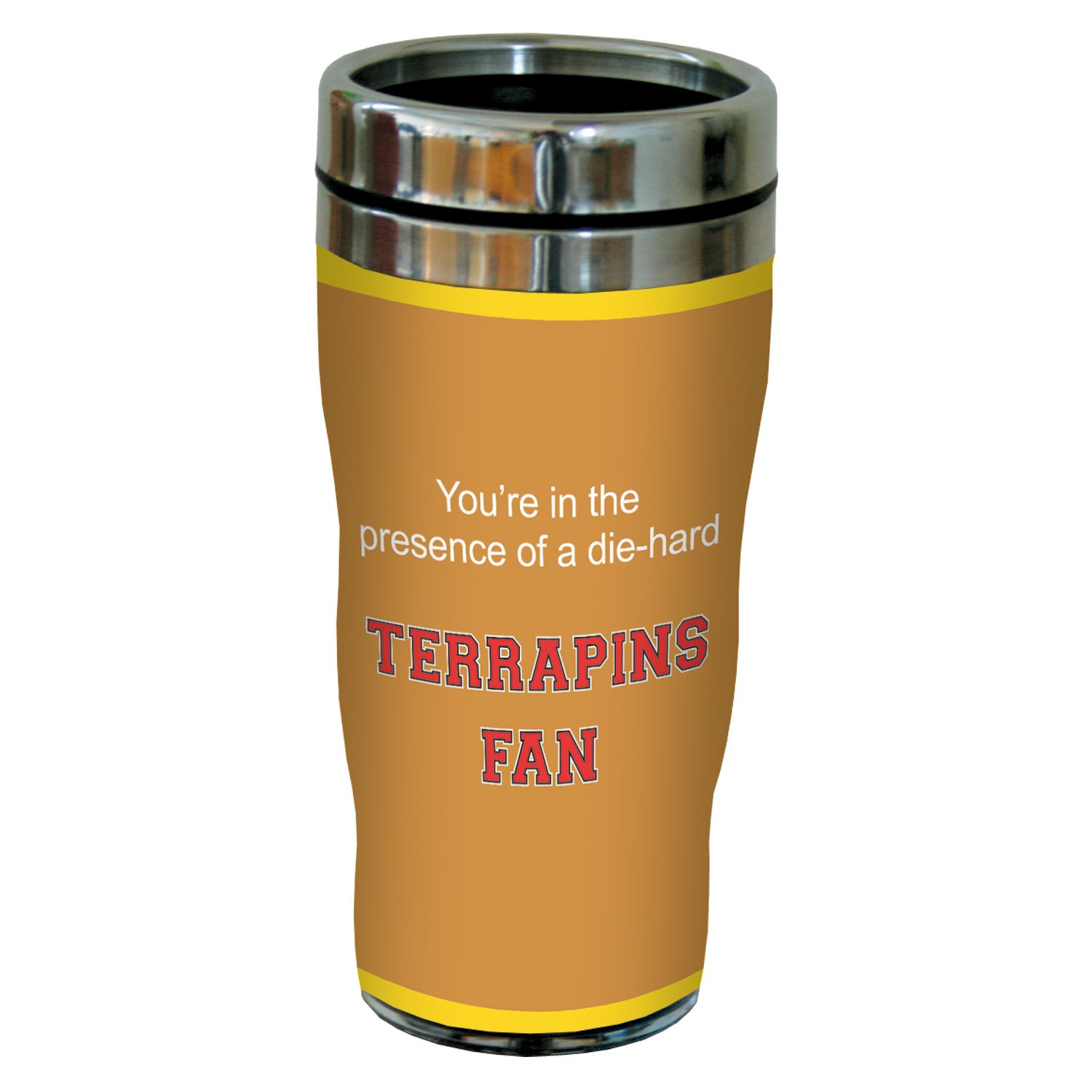 Tree-Free Greetings sg24482 Terrapins College Football Fan Sip 'N Go Stainless Steel Lined Travel Tumbler, 16-Ounce