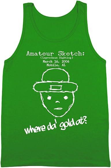 Happy St Patricks Day Leprechaun Emoji Mens Tank Top