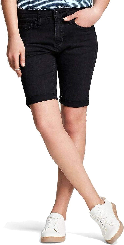 Universal Thread Women's High-Rise Roll Cuff Bermuda Jean Shorts 00 Java Black 61bixWGzqwL