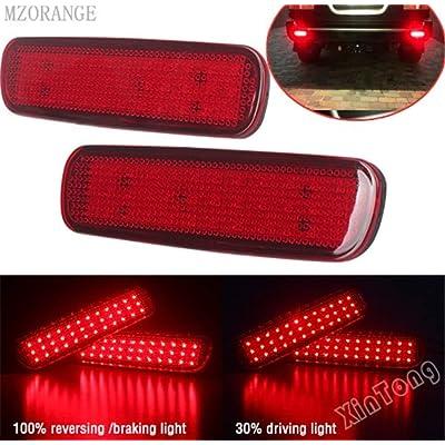 Clidr Car LED Rear Bumper Reflector Light For Toyota Land Cruiser 100/Cygnus LX470 LED Parking Warning Stop Brake Lamp Tail Lantern (Black): Automotive