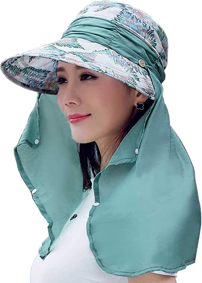 Mujeres Hembra Verano Plegable Anti-UV Sombrero para Sol Gorras de ...