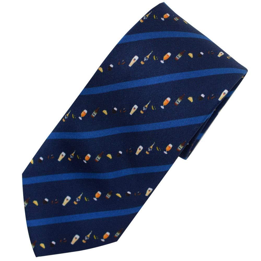 Silk Neckties Ties for Men ramen beer camp 3type (Long(160cm), Beer)