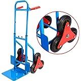 Yosoo 200Kg Heay Duty 6 Wheel Stair Climber Sack Truck Hand Sack Barrow Trolley Cart Garden Tool