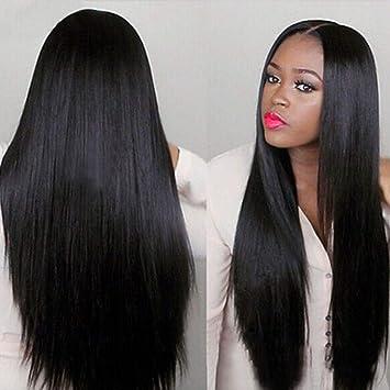 Straightened Long Layered Black Hair 6