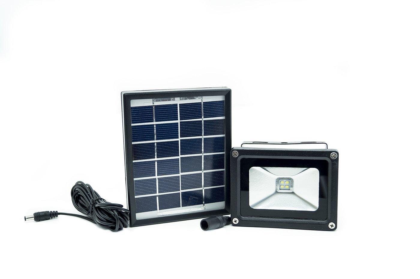 Plafoniere Con Pannello Solare : Faro led smd con pannello solare per illuminazione esterna