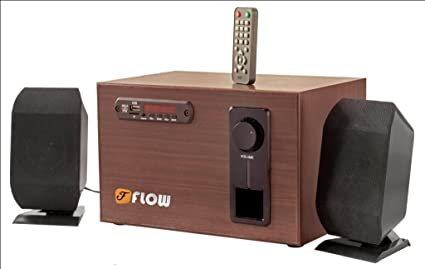 Wooden Flow 2 1 Home Theatre Speaker System connect TV USB Memory