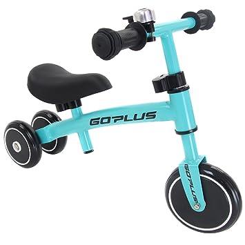6eb314ae5ab COSTWAY Balance Bike, No Pedal Training Bicycle with Adjustable Handlebar  and seat, Toddler Walking