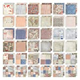 Tim Holtz Idea-ology Paper Stash, 36 Sheets of 12 x 12 Inch Double-Sided Cardstock, Various Design Sizes, Correspondence (TH93187)