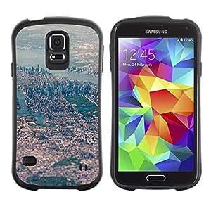 """Hypernova Slim Fit Dual Barniz Protector Caso Case Funda Para Samsung Galaxy S5 [Ver Big City Paisaje del río""""]"""