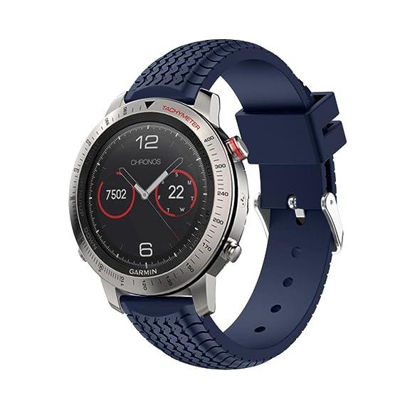 Boy reloj correa, Fulltime (TM) GPS Garmin Fenix Chronos correa de reloj suave banda de silicona de repuesto