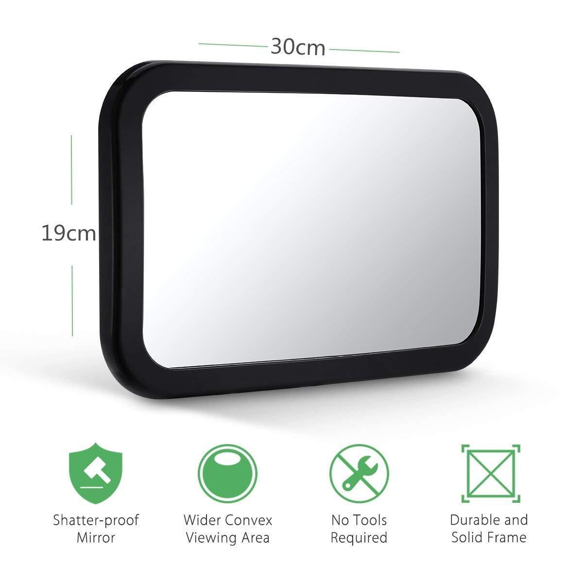 Miroir auto b/éb/é Rotation 360/°/& Fonction dInclinaison,100/% incassable Pour B/éb/é Miroir Voitu R/étroviseur de Surveillance B/éb/é pour Si/ège Arri/ère,Miroir de voiture pour b/éb/é