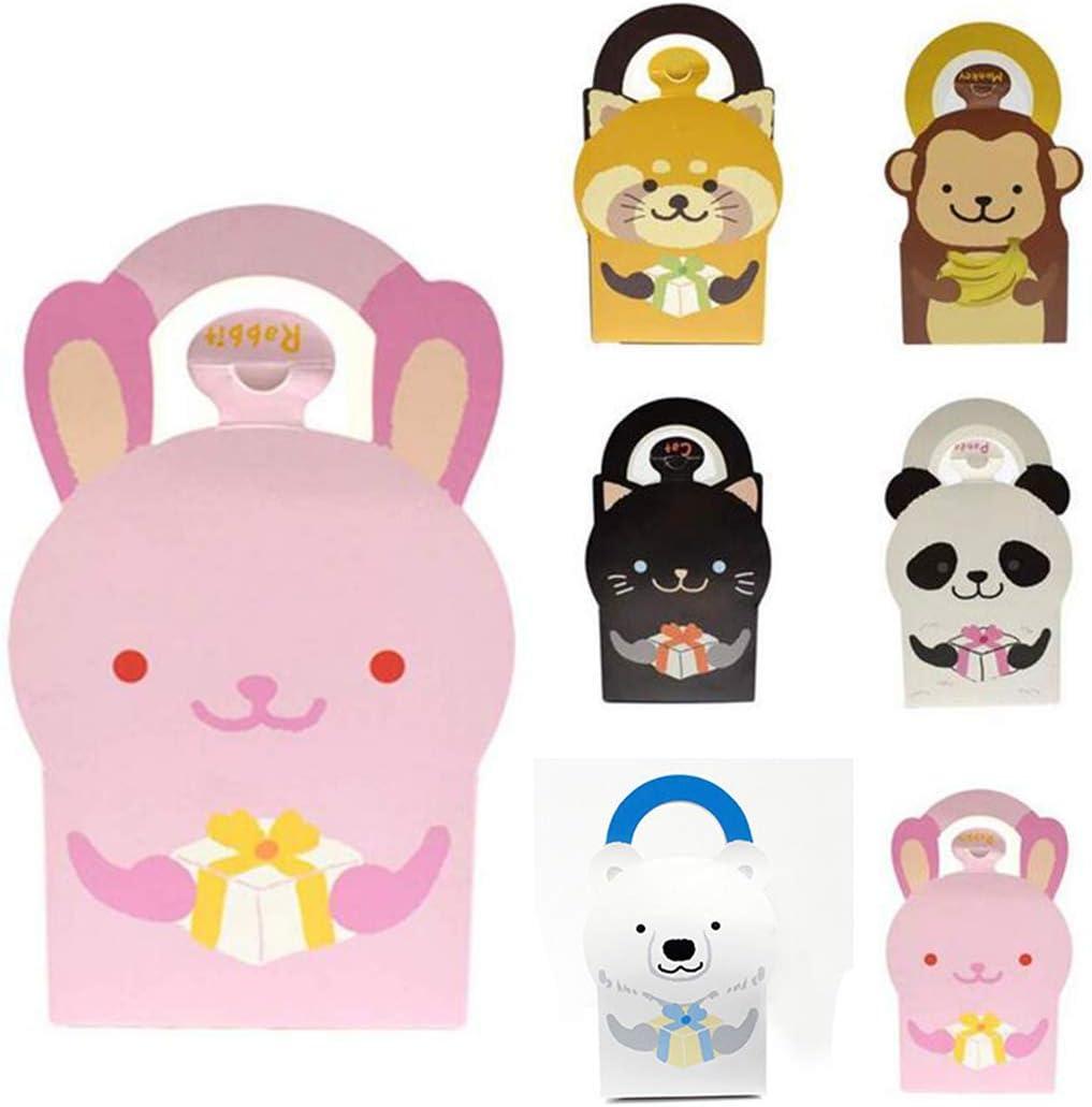 Biluer 30PCS Bolsas Regalo Cumpleaños Bolsa de Caramelos Bolsas de Papel Boda de la Barra de Regalo del Partido Bolsas de Papel para niños Candy Cookie Cupcake Toy 6 Diferentes Patrones