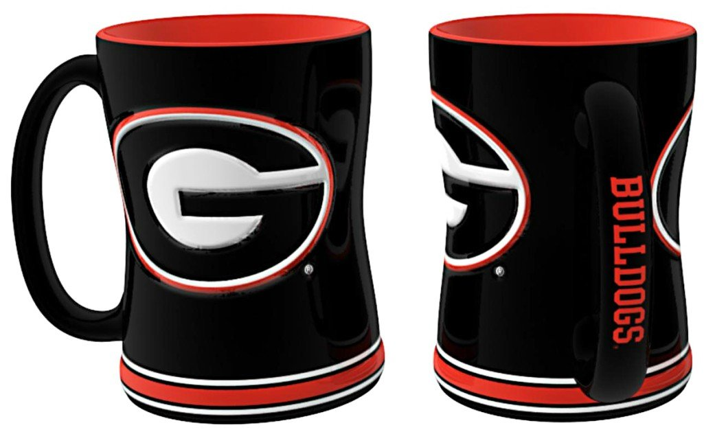 Georgia Bulldogs 15 oz Relief Mug - Black
